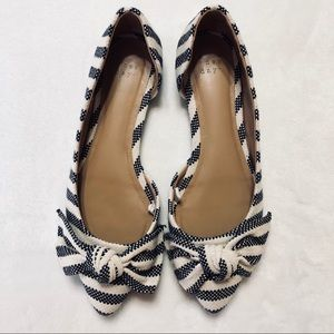 A New Day Striped Pointed Toe Flats